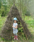 Holmsdale Manor Nursery Ibstock Forest School wigwam